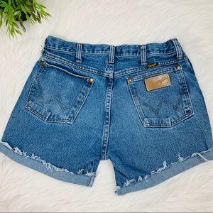 "#206 Wrangler High Waisted Jean Shorts 27/28"""